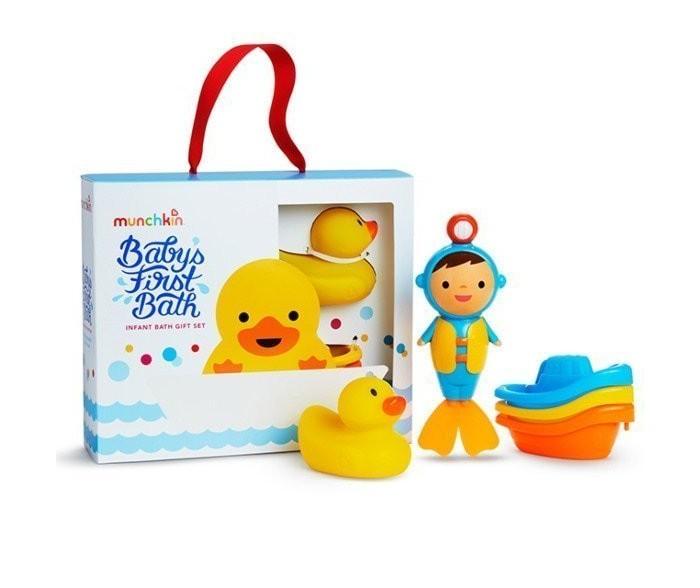 Фото - Игрушки для ванны Munchkin Набор Первые игрушки для ванной 3 шт. коврики для купания munchkin набор для ванной 6 шт набор для ванной playgo киты