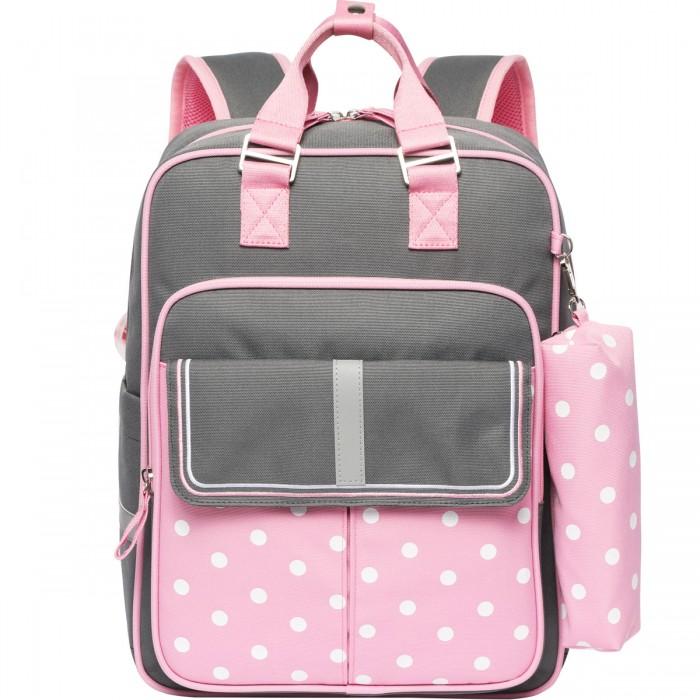 Школьные рюкзаки Action Ранец ученический с пеналом формоустойчивая спинка