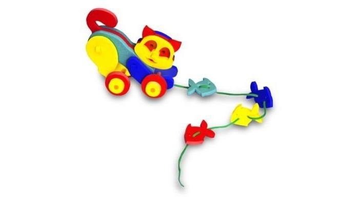 Каталки-игрушки Флексика Кошечка флексика пазл для малышей геометрия цвет основы красный