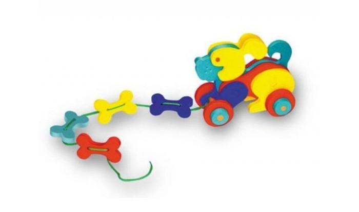 Каталки-игрушки Флексика Собачка флексика пазл для малышей геометрия цвет основы красный