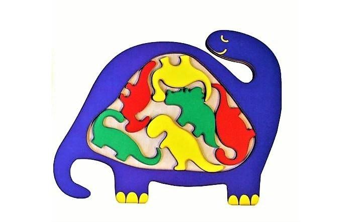 Деревянные игрушки Фабрика Мастер игрушек Головоломка Динозаврик