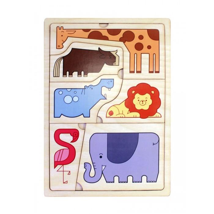 Деревянные игрушки Фабрика Мастер игрушек Головоломка Животные саванны