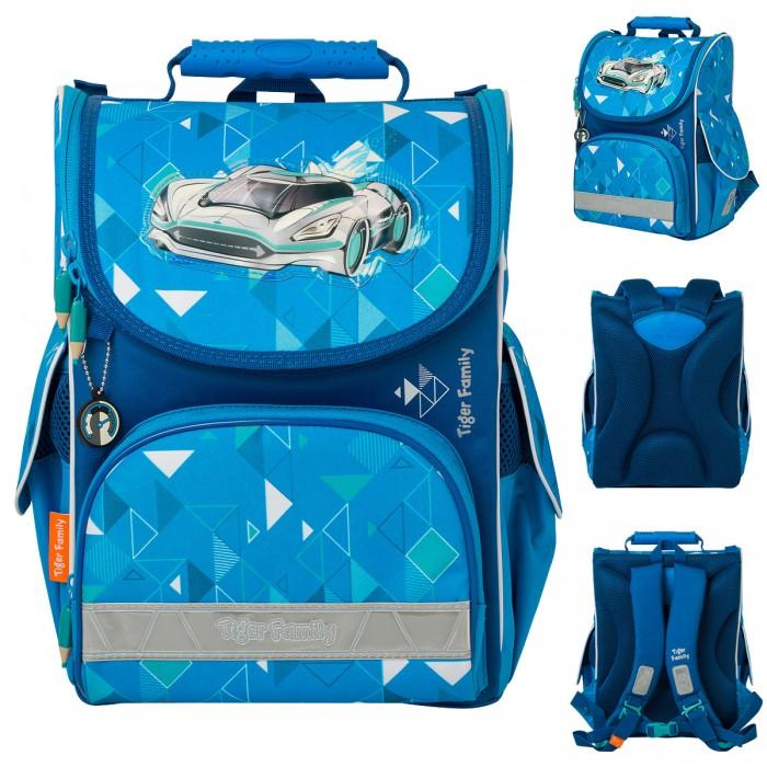 Школьные рюкзаки Tiger Enterprise Ранец школьный Nature Quest Silver Space анатомическая спинка