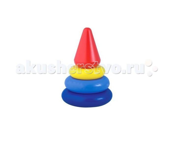 цены Развивающие игрушки Росигрушка Пирамида Кнопа 14 см