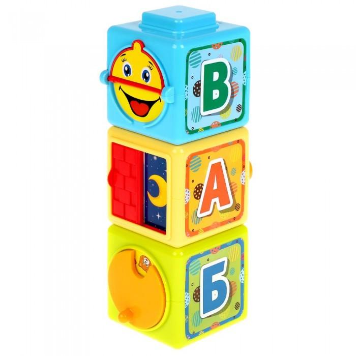 Развивающие игрушки Умка кубики Учим цифры и буквы 3 шт. карточки развивающие умка маша и медведь буквы и цифры 30 карточек