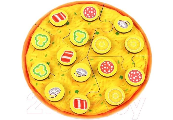 Фото - Деревянные игрушки Фабрика Мастер игрушек Пазл Пицца мясная деревянные игрушки фабрика мастер игрушек пазл жираф ig0063