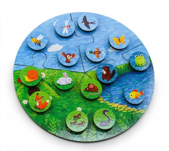 Фото - Деревянные игрушки Фабрика Мастер игрушек Пазл Среда обитания деревянные игрушки фабрика мастер игрушек пазл жираф ig0063