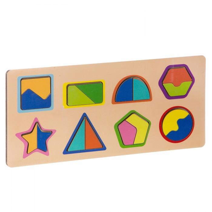 Деревянные игрушки Фабрика Мастер игрушек Рамка-вкладка Цвета и фигуры