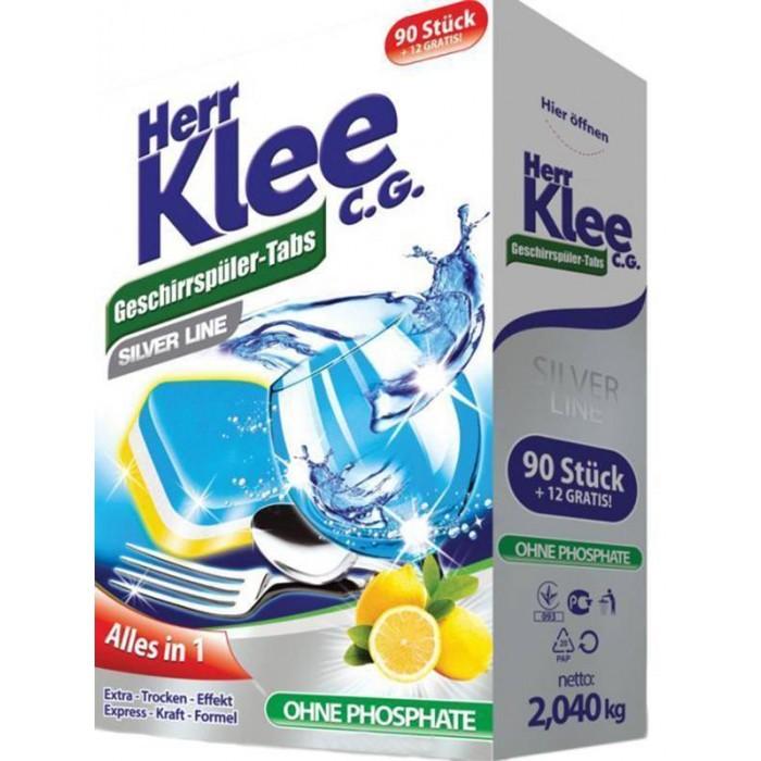 Бытовая химия Clovin Таблетки для посудомоечной машины Herr Klee Silver Line 102 шт.