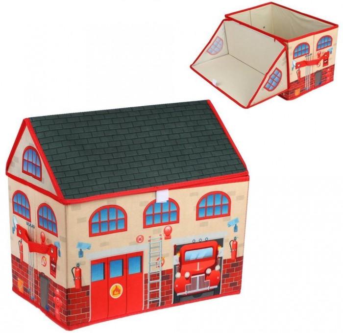 Наша Игрушка Корзина для игрушек Пожарная 40х25х37 см