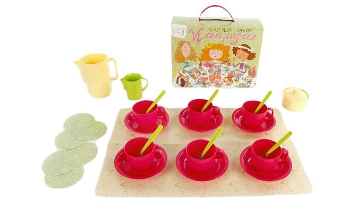 Ролевые игры Росигрушка Набор посуды чайный Каприза набор посуды игрушечный 1 toy чайный сервиз