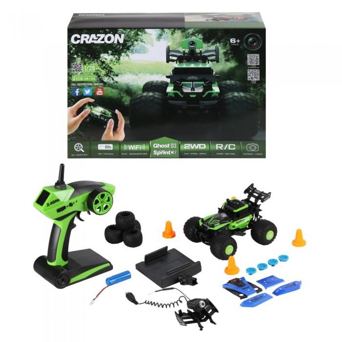 Crazon Машинка-багги радиоуправляемая скоростная с WiFi камерой 1:28 от Crazon