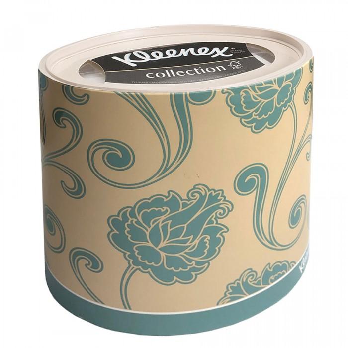 салфетки Салфетки Kleenex Бумажные салфетки для лица Голубые цветы 64 шт.