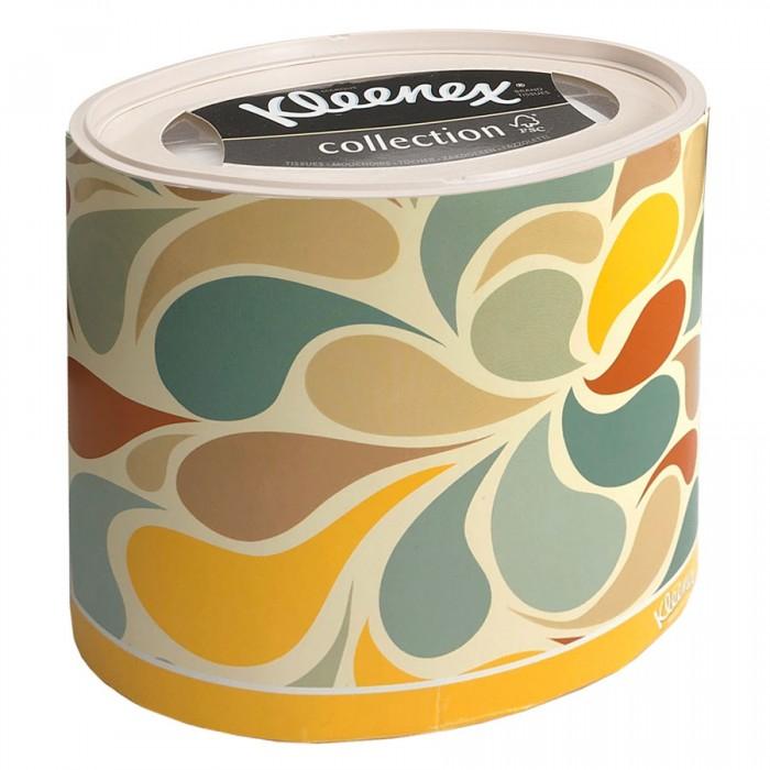 салфетки Салфетки Kleenex Бумажные салфетки для лица Цветные лепестки 64 шт.