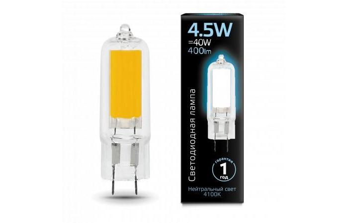 Светильники Gauss Лампа Glass LED G4 AC220-240V 4.5W 400lm 4100K