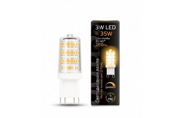 Светильники Gauss Лампа диммируемая LED G9 AC185-265V 3W 280lm 2700K