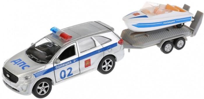 Технопарк Машина металлическая Kia Sorento Prime Полиция и лодка