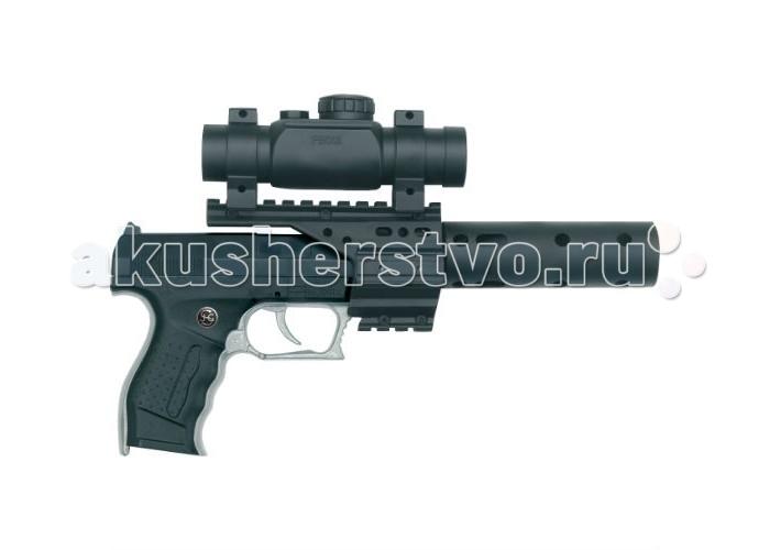 Schrodel Игрушечное оружие Пистолет PB 001 c глушителем и телескопическим прицелом