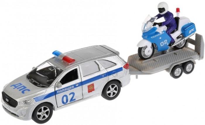 Машины Технопарк Машина металлическая Kia Sorento Prime Полиция и мотоцикл