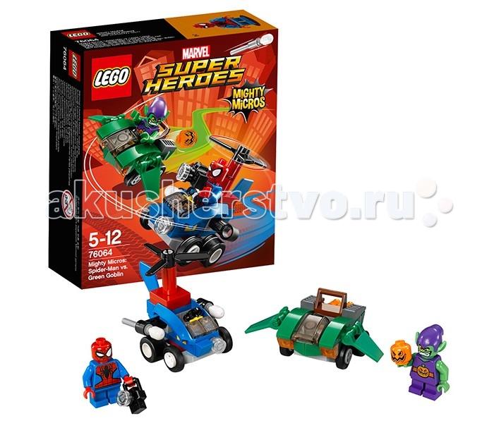 Lego Lego Super Heroes 76064 Лего Супер Герои Человек-паук против Зелёного Гоблина 76057 человек паук последний бой воинов паутины
