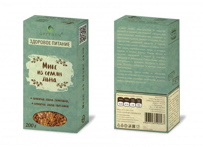 Правильное питание Оргтиум Микс из семян льна 200 г