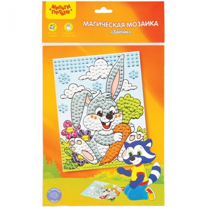Фото - Аппликации для детей Мульти-пульти Мозаика магическая Зайчик аппликации для детей мульти пульти плетение из бумаги пингвин бегемот черепаха
