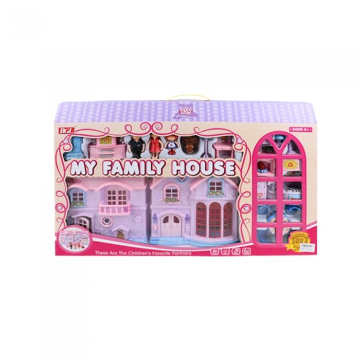 Фото - Кукольные домики и мебель Джамбо Кукольный дом с куклами и мебелью кукольные домики и мебель kidkraft кукольный домик камила с мебелью 25 элементов