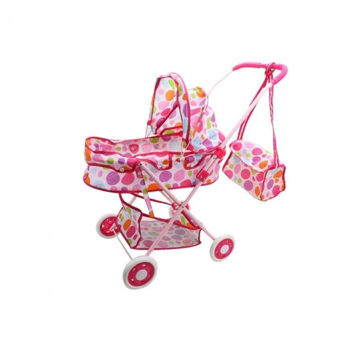 Коляска для куклы Джамбо прогулочная люлька с корзинкой