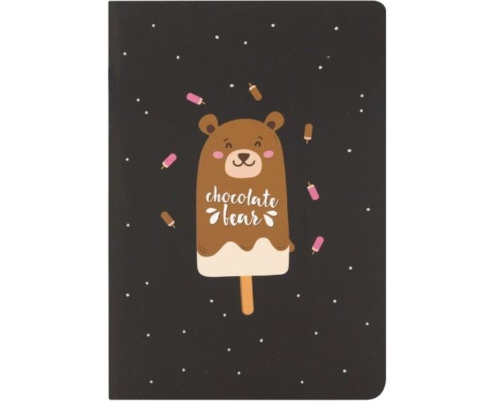 Канцелярия Kawaii Factory Блокнот в точку Chocolate bear А6