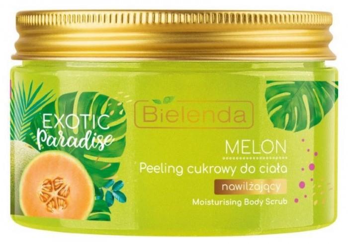 Косметика для мамы Bielenda Exotic paradise Сахарный скраб для тела увлажняющий Дыня 350 г сахарный скраб для тела аравия