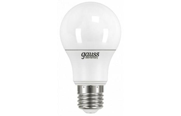 Светильники Gauss Лампа Elementary LED A60 7W E27 540lm 4100K gauss led a60 e27 7w 4100k 1 10 40
