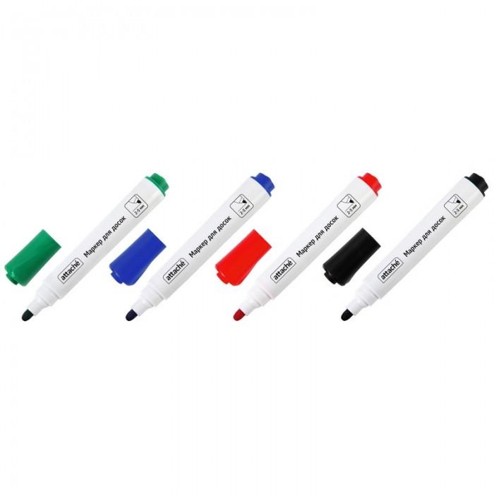 Канцелярия Attache Маркер для досок мокрого стирания 4 цвета