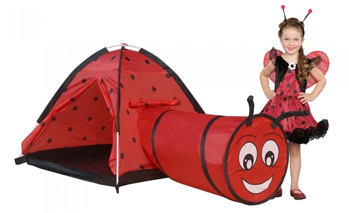 Джамбо Домик-палатка с туннелем Божья коровка 170х112х94 см от Джамбо