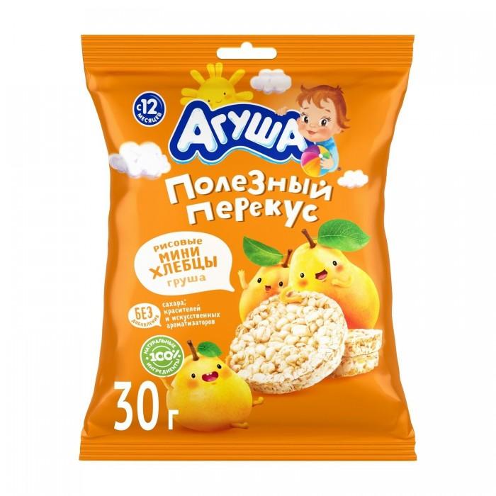 Печенье Агуша Хлебцы мини рисовые с грушевым соком 30 г