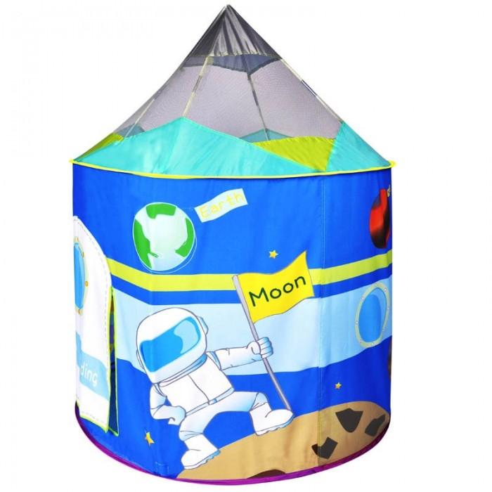 BabyOne Домик игровой Космический корабльДомик игровой Космический корабльBabyOne Домик игровой Космический корабль + 100 шариков отлично подойдет для детских садов и развивающих центров. А также незаменим для игр двух и более детей дома, на дачном участке и во дворе вашего дома.   Палатка очень быстро складывается и раскладывается и занимает мало места при хранении (в комплект входит сумка на молнии).   Для детей от 1 года (дети до 3 лет играют строго под присмотром взрослых!  Сделана из безопасного влагостойкого материала. Имеет яркий и интересный внешний вид.  Диаметре шариков: 6 см Размер: 106 х 135 см<br>
