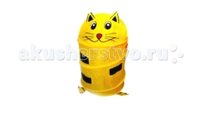 Ящики для игрушек Shantou Gepai Корзина Котенок 45х50 см ящики для игрушек shantou gepai корзина зайка 36х48 см