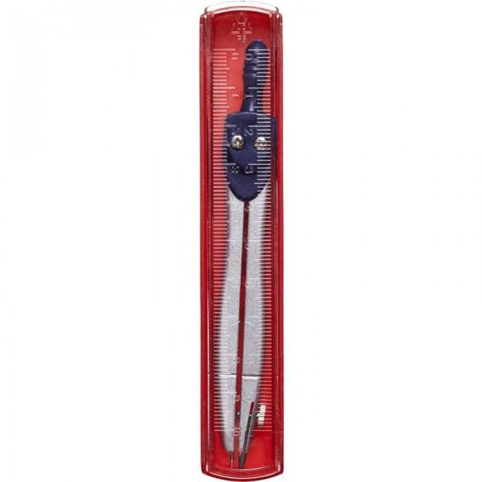 Канцелярия Attache Циркуль 115 мм с линейкой в пенале стусло пластиковое 300x110x60 мм с линейкой