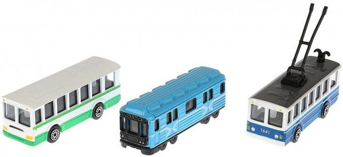 Машины Технопарк Набор моделей Городской транспорт 8 см 3 шт.