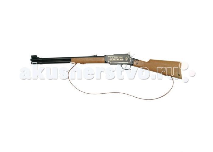 Schrodel Игрушечное оружие Ружье Kansas Kid 100-ShotИгрушечное оружие Ружье Kansas Kid 100-ShotИгрушечное оружие Schrodel Ружье Kansas Kid 100-Shot — отличный выбор для маленьких любителей приключений, вестернов и борьбы со злом.  Ружье Канзас Кид (Kansas Kid) от известного немецкого бренда Schrodel, производителя детского оружия с 1846 года, станет бессменным спутником вашего мальчика в его разнообразных играх. Любая «войнушка» станет лучше, если в нее добавить реалистичное и качественное оружие, которое не только выглядит, как настоящее, но и производит характерный и узнаваемый громкий звук выстрела!  Длина ружья - как у «взрослого» - 73 сантиметра. И выглядит такая винтовка очень внушительно: металлическая двустволка с элементами из высококачественного пластика, основательный приклад и удобная подвеска, позволяющая перекидывать ружье через плечо.  Оружие стреляет 100-зарядными патронами, которые необходимо приобретать отдельно.    Игрушечное оружие от немецкой компании Schrodel — лучшие игрушки для военных и схожих социально-ролевых играх для мальчишек. Сделайте игру в «войнушку» полезной для ребенка, расскажите ему о настоящих героях, о том, как важно защищать слабых и творить добро. Помогите ребенку понять важные ценности и жизненные принципы в активной игре про борьбу с преступностью.  Schrodel — один из лучших немецких производителей игрушечного детского оружия отличного качества. Все игрушки компании выполнены из нетоксичных и качественных материалов, безопасных для здоровья ребенка.  Обязательно ознакомьтесь с инструкцией и соблюдайте меры безопасности.<br>