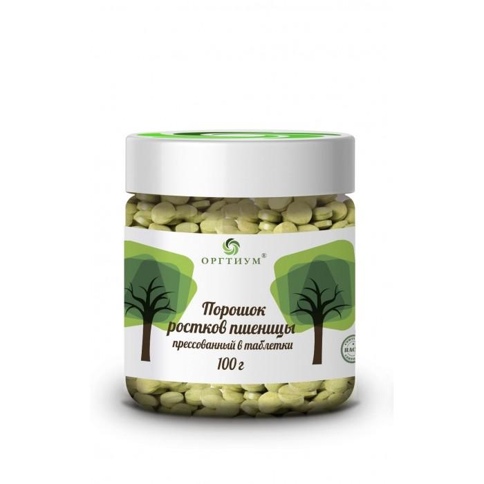 Купить Правильное питание, Оргтиум Порошок ростков пшеницы прессованный в таблетки 100 г