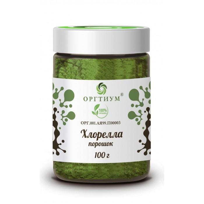 Правильное питание Оргтиум Хлорелла порошок 100 г хлорелла порошок из японии act organic 50 г