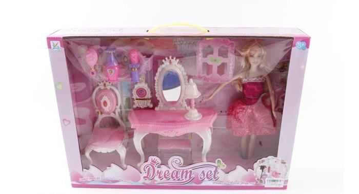 Купить Куклы и одежда для кукол, Джамбо Набор мебели с куклой JB0205663