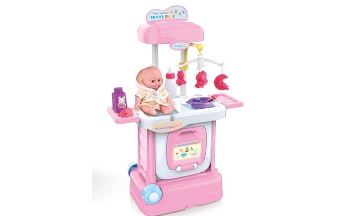 Картинка для Ролевые игры Джамбо Набор пеленальный столик с куклой и аксессуарами