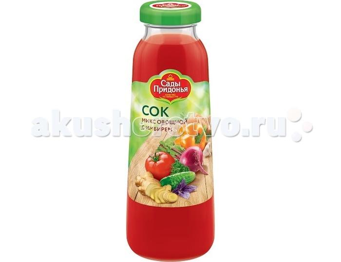 Соки и напитки Сады Придонья Сок Микс овощной с имбирем 0.3 л сок анона в алматы