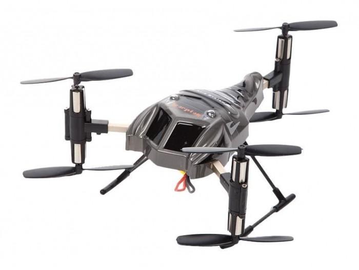 От винта! Трикоптер на радиоуправлении FLY-Y6Трикоптер на радиоуправлении FLY-Y6От винта! Трикоптер на радиоуправлении От Винта FLY-Y6, 4 канала, гироскоп.  Трикоптер FLY-Y6 - отличная модель для полетов внутри помещений и на открытом воздухе при слабом ветре. Наличие гироскопа придает ему идеальную устойчивость, так что управлять им сможет даже ребенок без опыта управления радиоуправляемыми моделями. Передатчик оснащен ЖК-дисплеем для простоты и точности управления. Модель может летать вверх, вниз, вперед, назад, вправо, влево, а также может зависать, переворачиваться и совершать круговые вращения.  Особенности: Размер вертолета: 12 x 10.7 x 7.2 см. Вертолет на радиоуправлении Трехмерный полет Движение: вверх/вниз, вперед/назад, влево и вправо, боковой полет, зависание, перевороты, круговое вращение - на 360 градусов Контроль скорости режим высокой и низкой скорости Время полета: 5-6 мин. Время подзарядки: 9 0 мин Кол-во каналов - 4 Гироскоп LCD пульт с 2-мя режимами управления Радиус действия пульта управления: 50 м Запуск вертолета: внутри и снаружи помещения Аккумулятор: 3.7V 500 m A h литиево-полимерный. Комплектация: Трикоптер - 1 шт. Пульт с LCD экраном - 1 шт. USB провод - 1 шт. Зарядное устройство - 1 шт. Аккумулятор литиево-полимерный - 1шт. Отвертка - 1 шт. оп. винты - 4 шт. Инструкция - 1 шт.<br>
