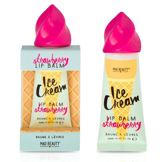Косметика для мамы MAD Beauty Бальзам для губ Клубничное мороженое 10 мл bc beauty care бальзам для губ восстанавливающий