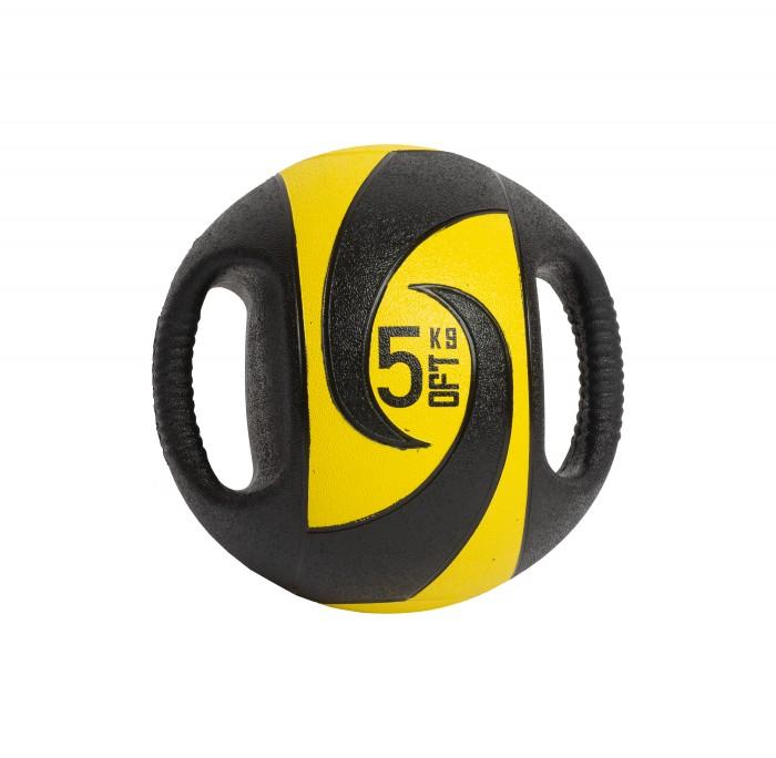 Мячи Original FitTools Мяч тренировочный с хватами 5 кг мяч original fittools для мфр одинарный