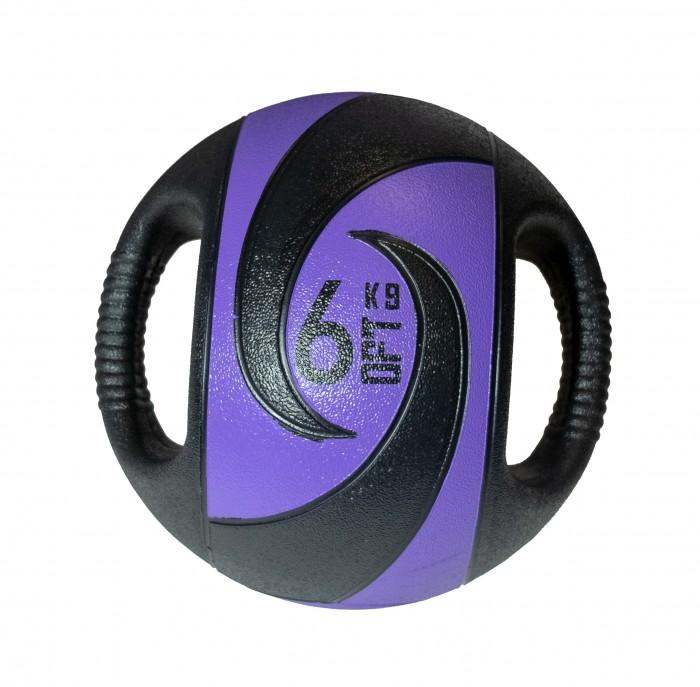 Мячи Original FitTools Мяч тренировочный с хватами 6 кг мяч original fittools для мфр одинарный
