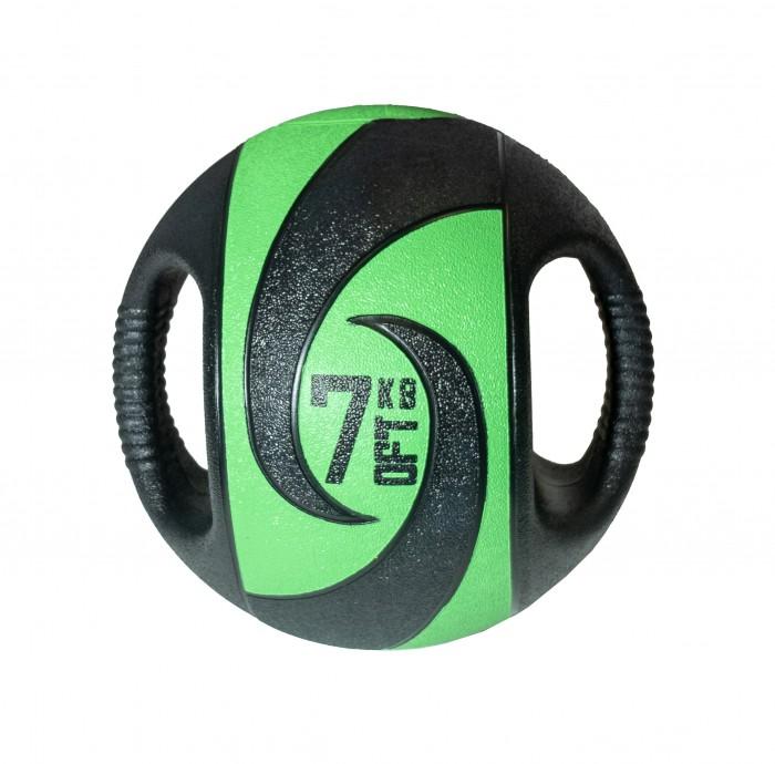 Мячи Original FitTools Мяч тренировочный с хватами 7 кг мяч original fittools для мфр одинарный