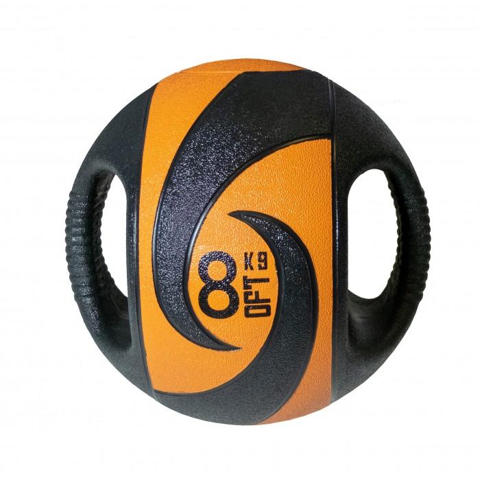 Мячи Original FitTools Мяч тренировочный с хватами 8 кг мяч original fittools для мфр одинарный